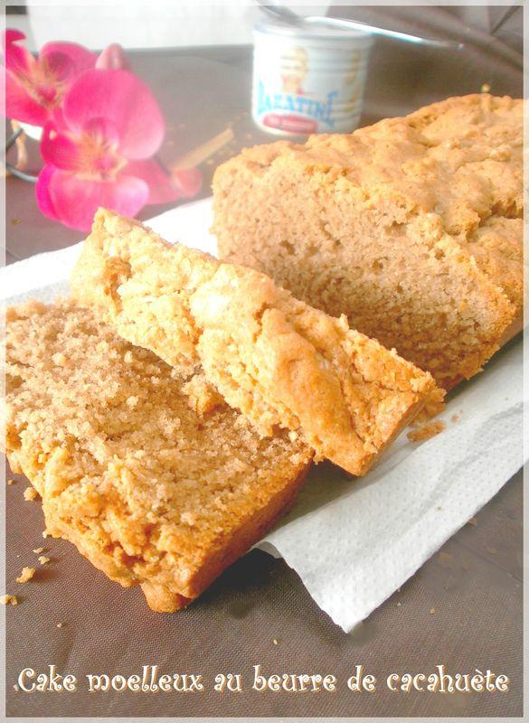 Cake moelleux au beurre de cacahu te ola - Gateau beurre de cacahuete ...