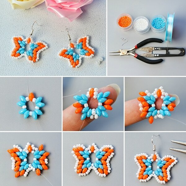 600-Pandahall-Tutorial---How-to-Make-a-Pair-of-2-Hole-Seed-Bead-Butterfly-Earrings