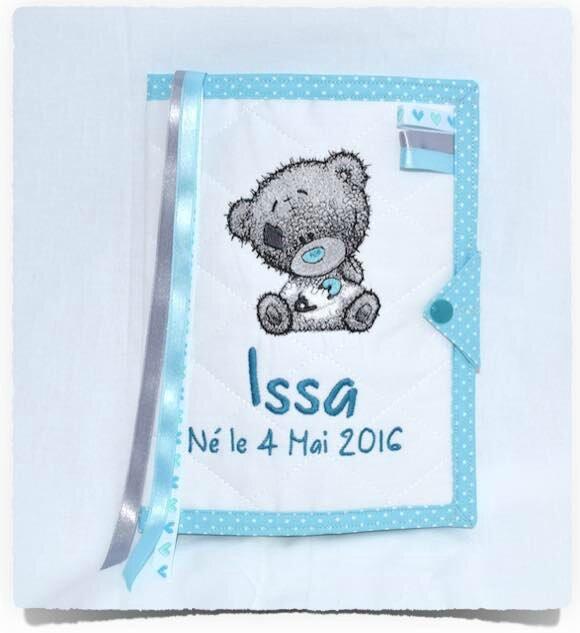 Protège carnet de santé TEDDY BEAR ISSA personnalisé