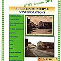 Bulletin d'information n°61 décembre 2011