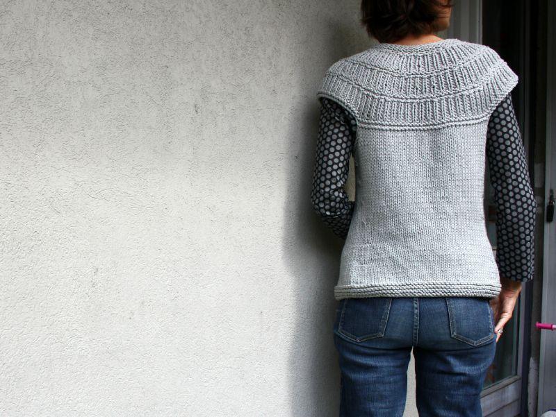 comment tricoter un gilet sans manche pour femme