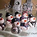 Bonhommes de neige porte noms