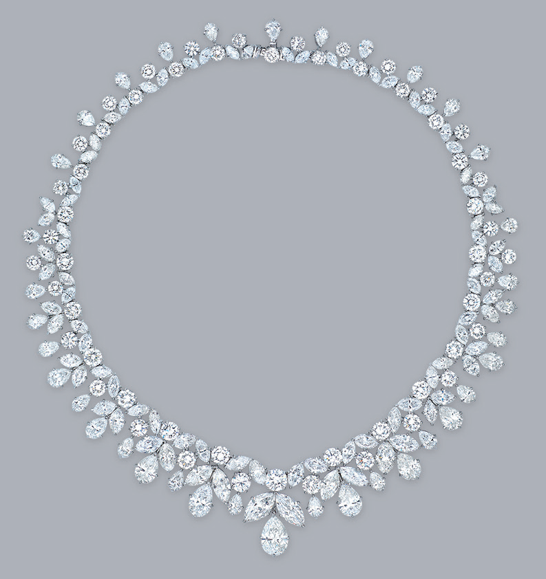 An important diamond necklace, by Cartier