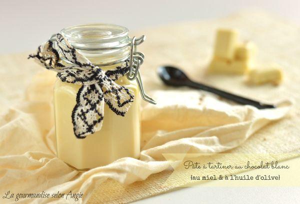pate tartiner maison chocolat blanc miel huile olive rapadura