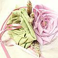 mariage champetre chic déco porte alliance fleur original rose vert anis cereza deco