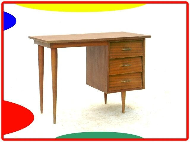 Table de repas console bureau scandinave ed sam 1950 for Meuble bureau 1950