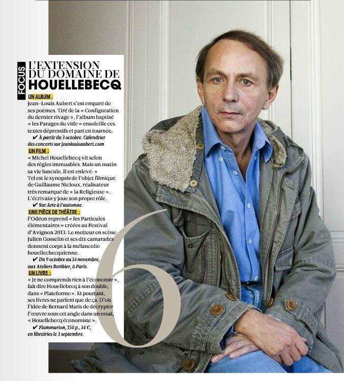 Houellebecq Madame Figaro 22 août 2014