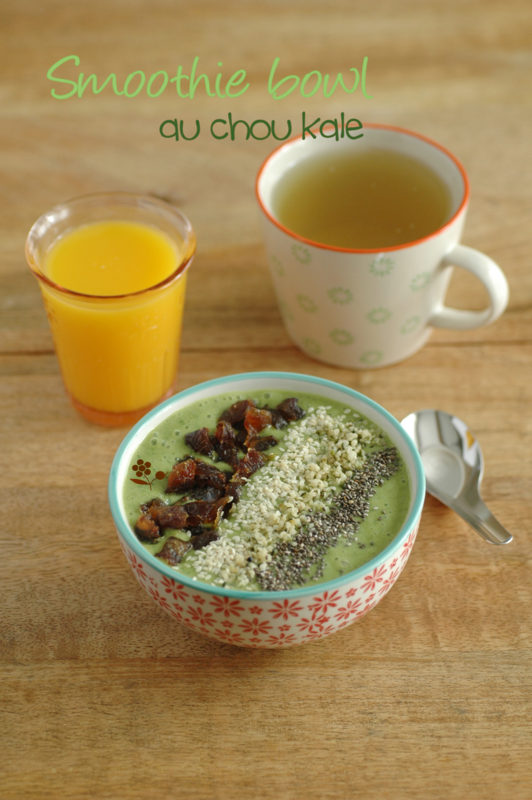 Smoothie bowl au chou kale_1