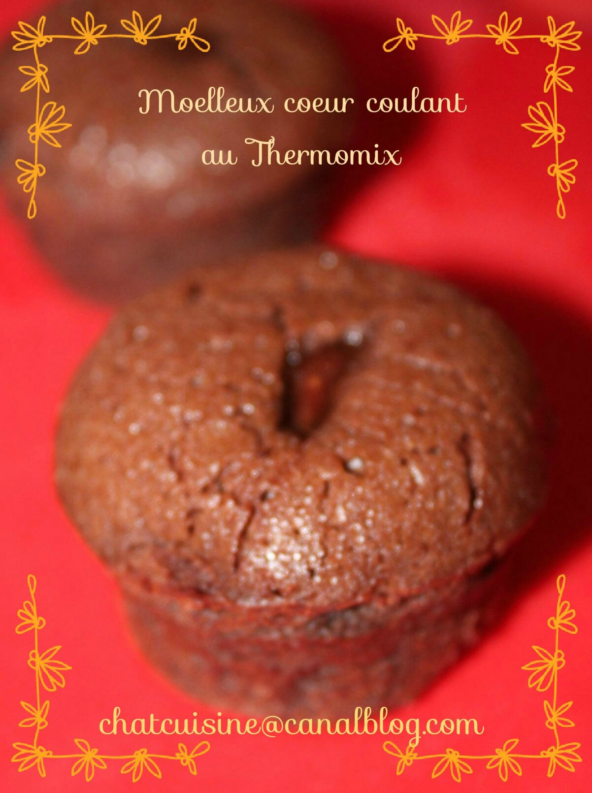 GпїЅteau chocolat coeur coulant thermomix