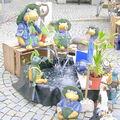 Fontaines de grenouilles à Wasserburg.Allemagne