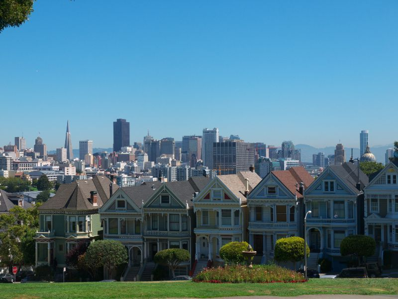 San Francisco Alamo Square Painted Ladies