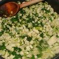 Barquette croustillante de cabillaud au citron et ses petits légumes verts
