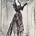 Balenciaga Haute Couture, illustration d'Éric, vers 1948 © DR