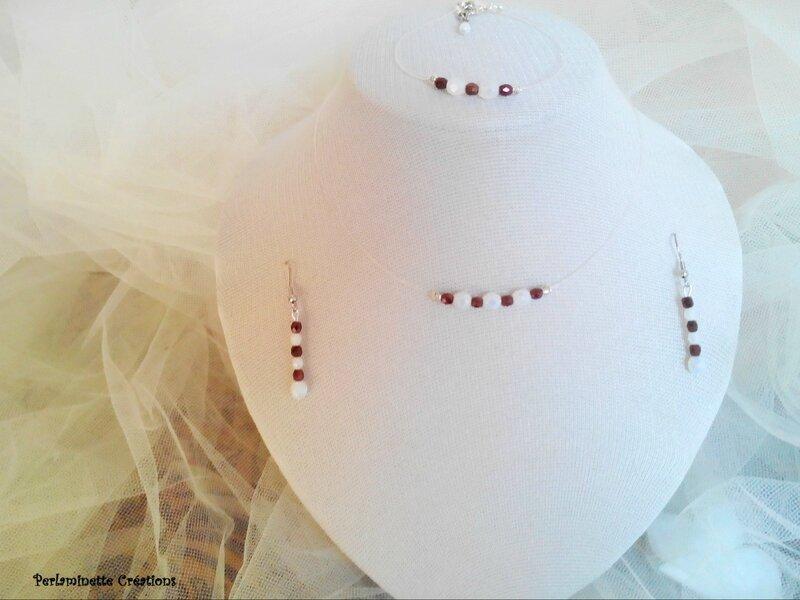 Parure simple et raffinée pour futures mariées au thème marron et blanc