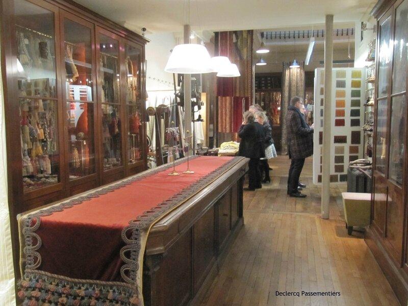 le showroom Declercq Passementiers