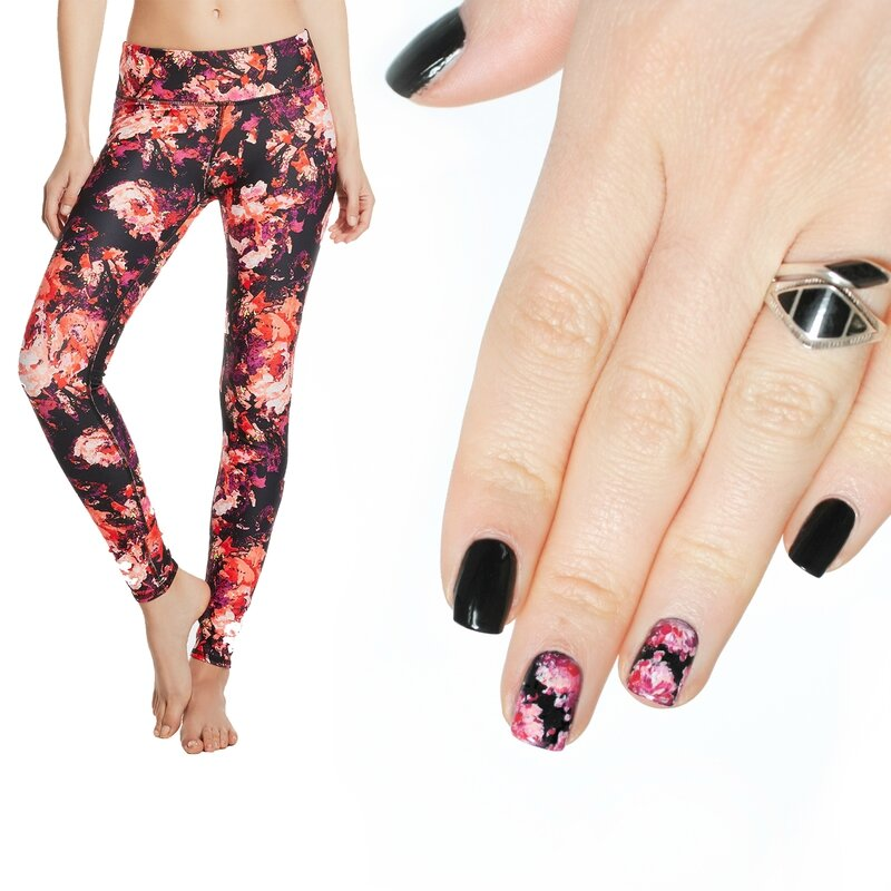 nails x running legging floral fabletics-5 copie