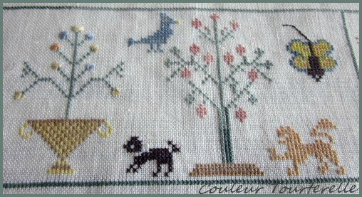 Mother's sampler 1799 Couleur Tourterelle 2-5