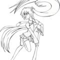 Hatsune miku lineart