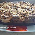 gateau chocolat meringué