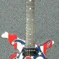 GibsonFlameFlagMapGuitarRed