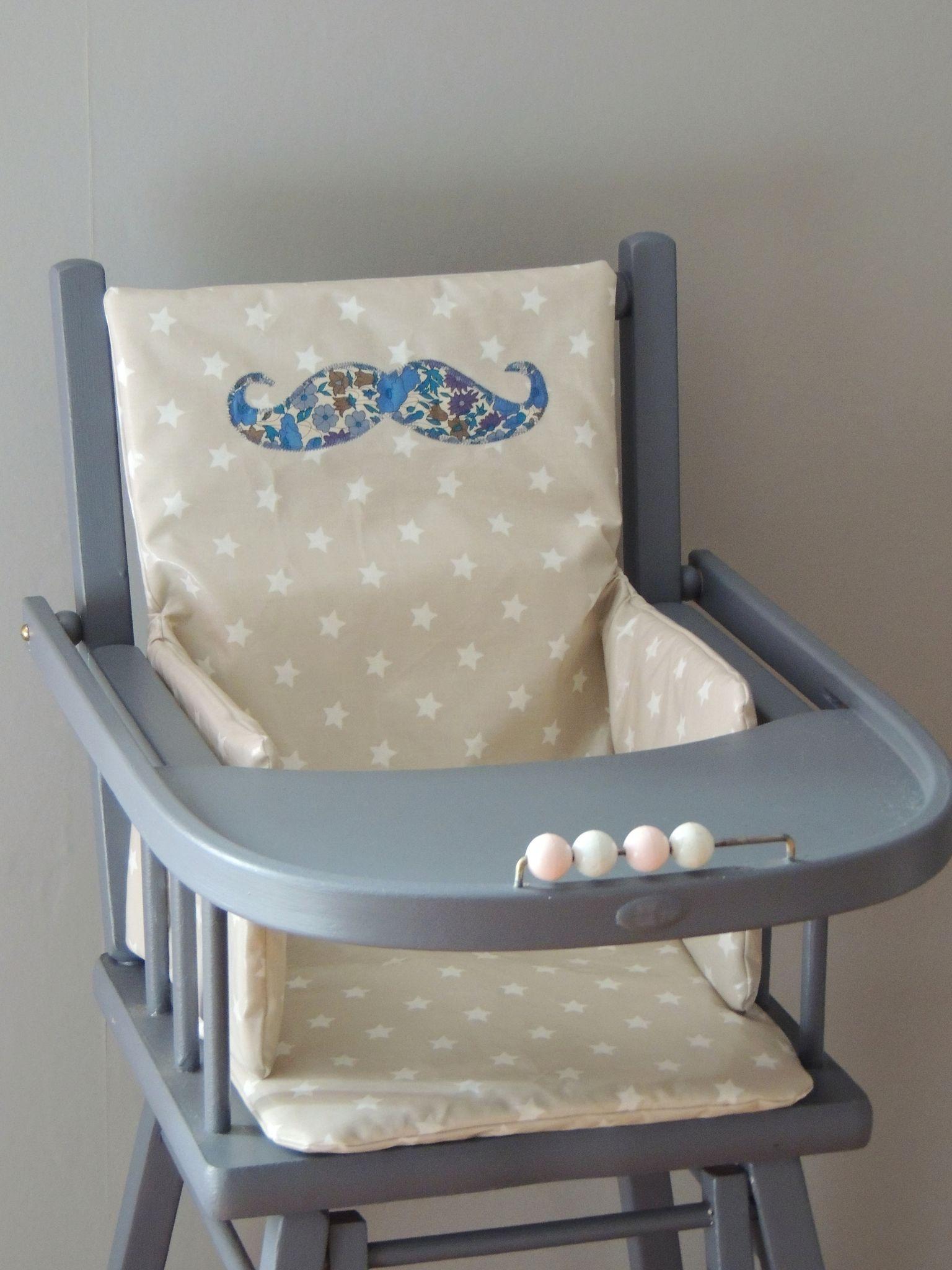 Coussins de chaise haute coton enduit demeure des anges - Coussin chaise haute combelle ...