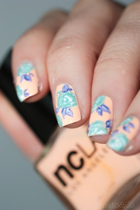 NCLA poolside party all eyes on me! flower nail art-3