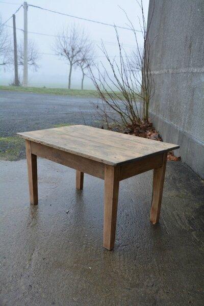 Table Basse En Bois Naturel La Petite Brocanteuse