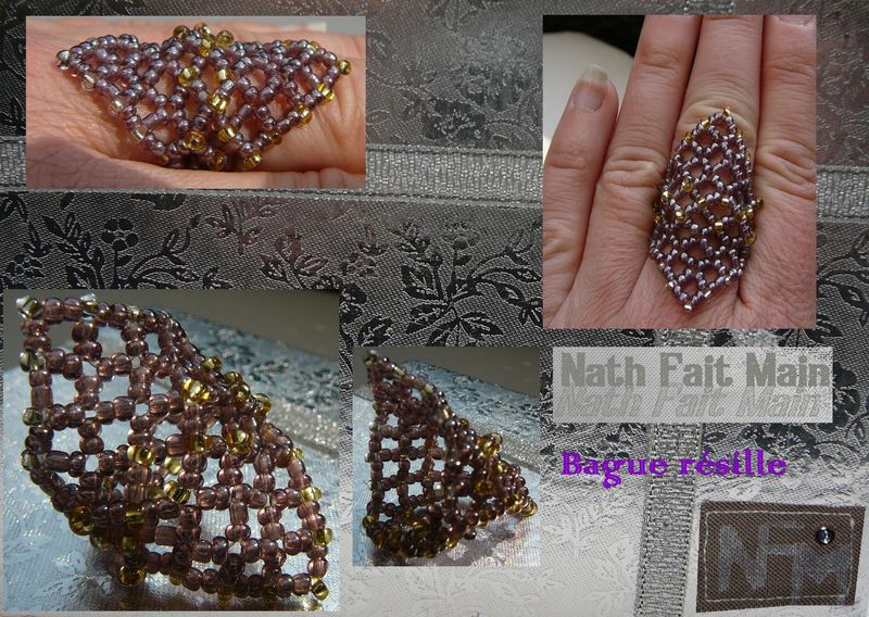 bague perle de rocaille schema