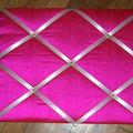 Pêle mêle rose fuschia pour ma chambre