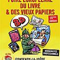 Du 13 au 15 août à fontenoy la joûte foire européenne du livre et des vieux papiers
