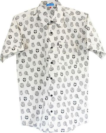gents shirt black&white
