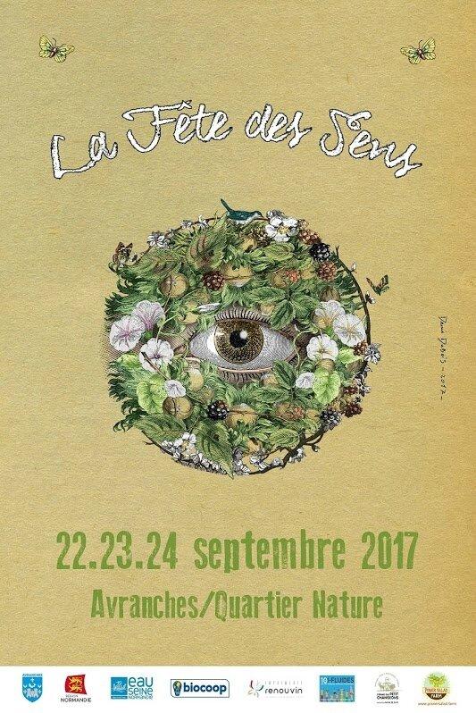 Fête des Sens Avranches septembre 2017 quartier nature affiche visuel