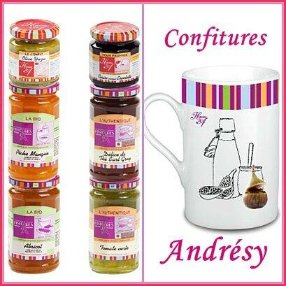 Bonne nouvelle: Des confitures et mugs Andrésy à gagner....