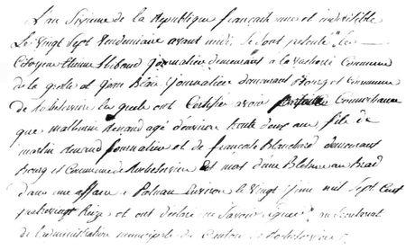 Registre de La Grolle 1797