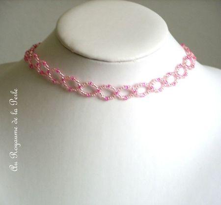 Collier Mignonette rose 1