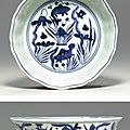 A Fine and Rare Blue and White Brushwasher, Jiajing six-character mark in underglaze blue within a double circle and of the period (1522-1566)