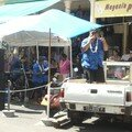 Tahiti, groupe de musiciens dans les rues de Papeete