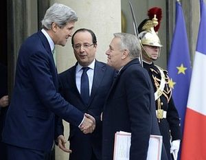 John Kerry with François Holland & Jean Marc Ayrault