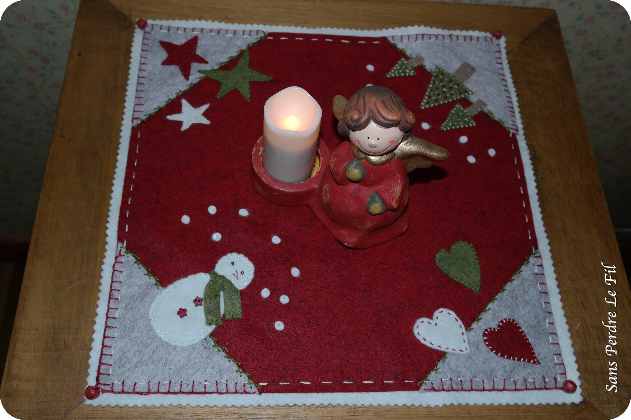 DIY candlemat