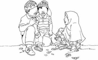 Coloriage famille b b muslim l 39 islam pour les enfants - Coloriage de la famille ...