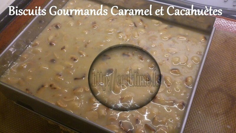 Biscuits Gourmands Caramel et cacahuètes au Thermomix 6