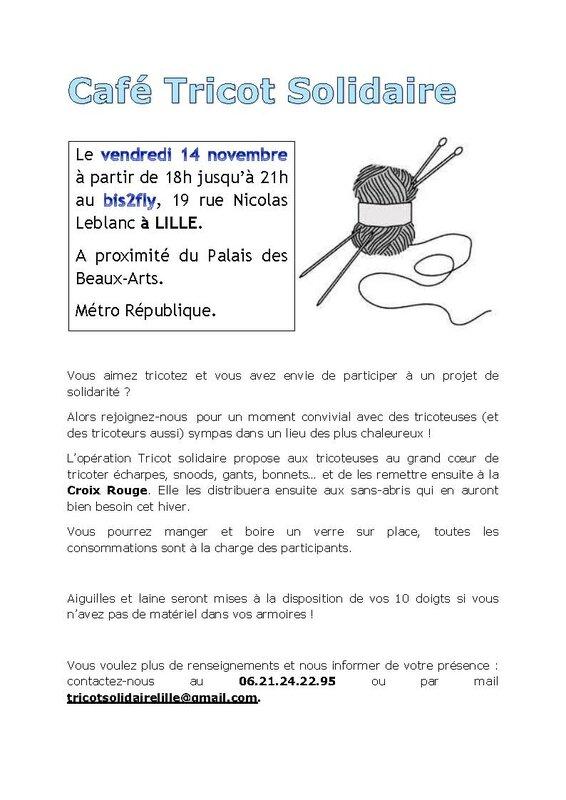Café Tricot Solidaire Affiche