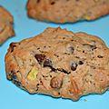 Cookies pomme et pépites de chocolat