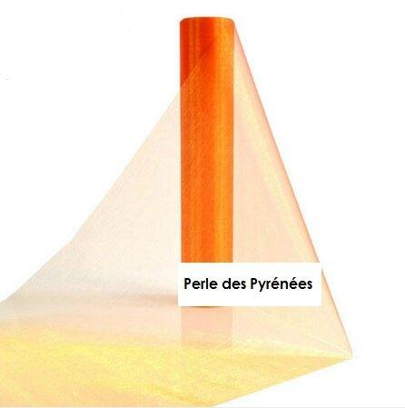 rouleau organza orange