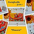 Portefeuille 3 en 1 Flowers