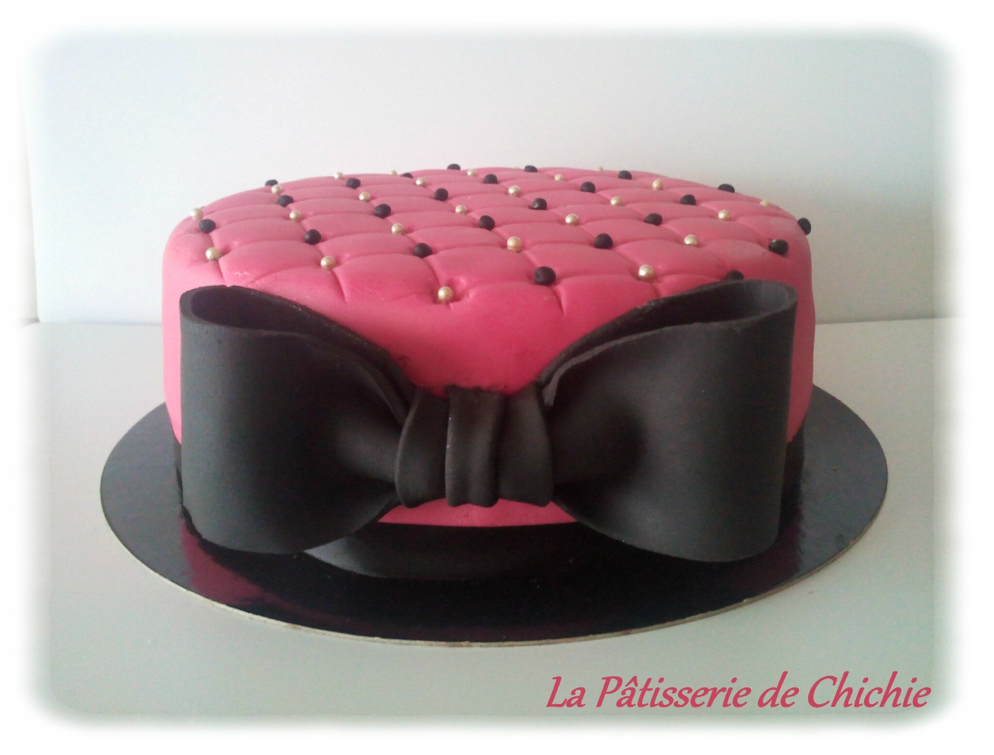So girly ! Gâteau et ganache chocolat caramel