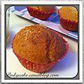 Muffins à la noix de coco avec un coeur de confiture de rhubarbe ( sans gluten, sans lactose)