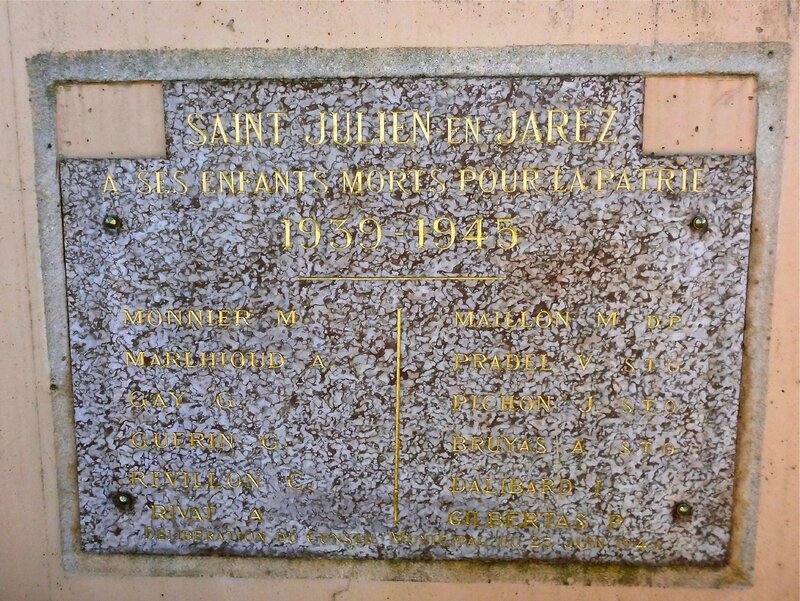 Monument aux morts St-Julien 28 mars 2014 (1939-1945)