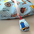 cow boy PUL fabric pencil case 2