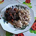 Coq au vin rouge, sans gluten, sans lait